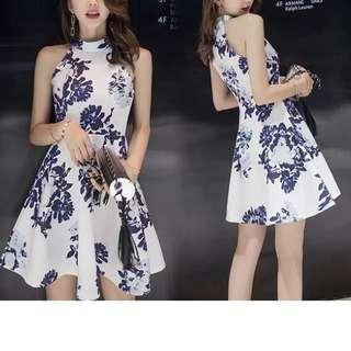 Women Midi Printed Sleeveless Dress