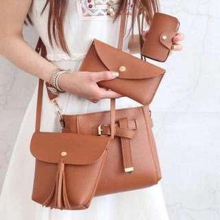 (Repriced!)Korean fashion 4in1 bag