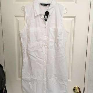 Glassons white collar dress