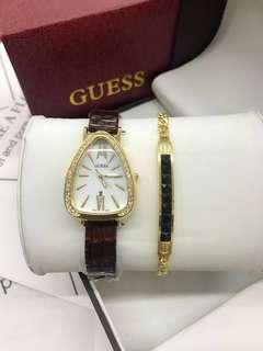 Guess watch set w/box