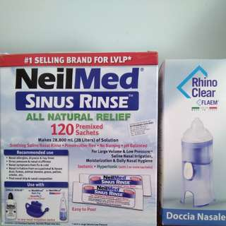 Nasal rinse with washer