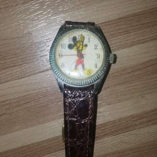 Old swiss made mickey mouse watch