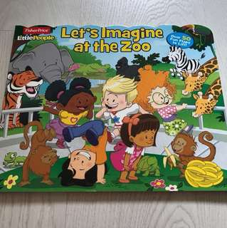 Let's imagine at the zoo flap book