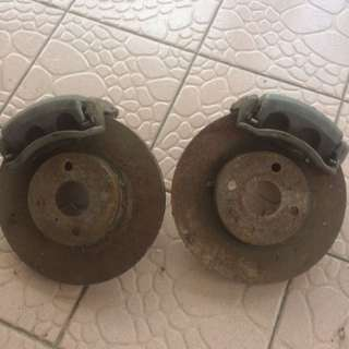 frin disc brake twin pot for toyota seg n ae model