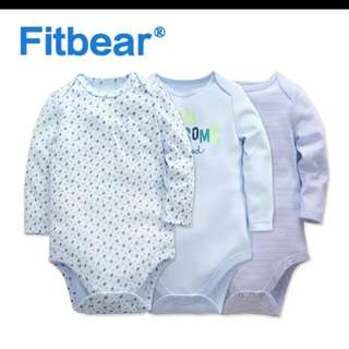 Brand new baby long sleeve romper 9-12months Old set of 3