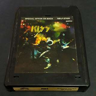 kiss 8 track tape - rare vintage collection