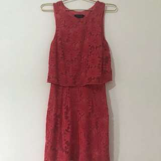 Pink Lace Dress New Look