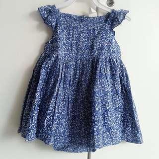 H&M blue floral dress size 12-18m