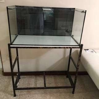 Fish tank with stand 3 ft