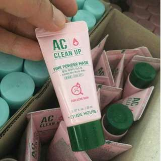 ETUDE HOUSE- AC CLEAN UP PINK POWDER MASK