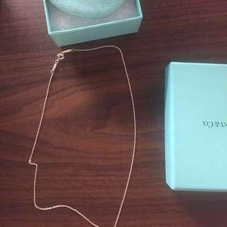 Tiffany&Co 專櫃真品 925 純銀 鏈子 附盒子 絨布袋