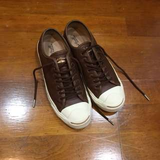 🚚 Converse jack Purcell 咖啡 開口笑