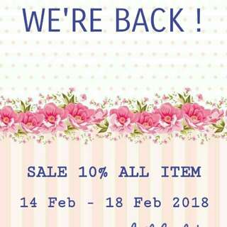 Sale 10% all item