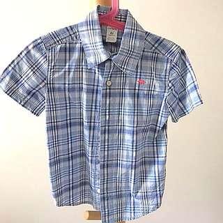 Carters 4T Blue Checkered Shirt