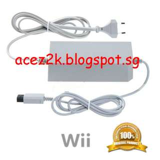 [BN] Wii Official Nintendo Original AC Power Adapter - RVL-002 (Brand New)