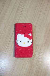 Iphone 5 5S wallet case hello kitty pink