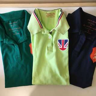 Giordano 3 Polo Shirts (Set) Size M