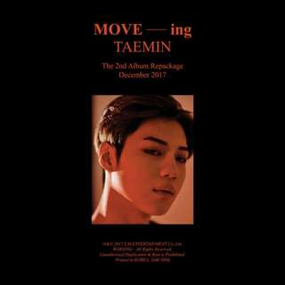Taemin Repackaged Moveing