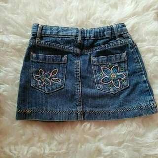 Preloved rok jeans anak