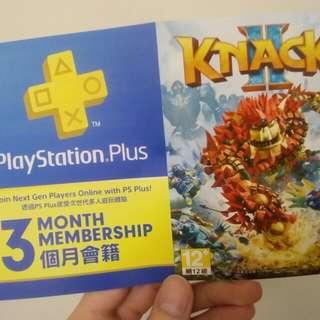 Knack 2連3個月會員