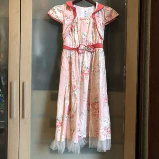 Dress flowers peach
