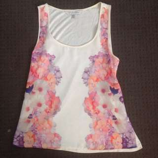 Forever New Brand Floral Flowy Top