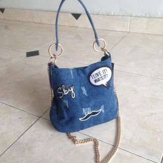 Padini Denim Patch Slingbag
