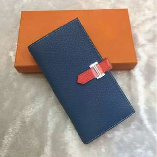 Bearn wallet (dual colour - blue, peach)