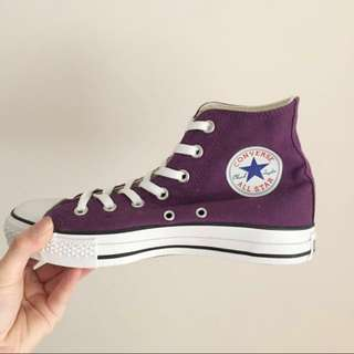 Purple High tops Converse