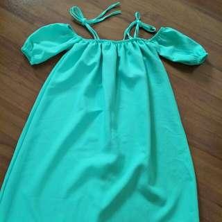 BN Mint Green Cold Shoulder Dress