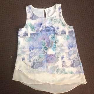 Valleygirl Brand Floral Top