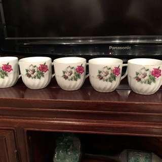 Vintage bunga kangkung cups