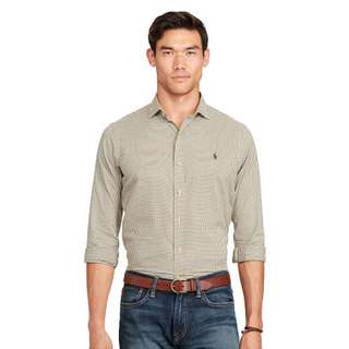 BNWT Ralph Lauren Slim Checked Twill Shirt (M)