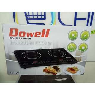 Dowell IC 21TC Double Hotplate Induction Cooker (Black)