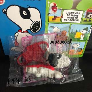Last SET McDonald Happy Meal Snoopy's World Masked Marvel Launcher