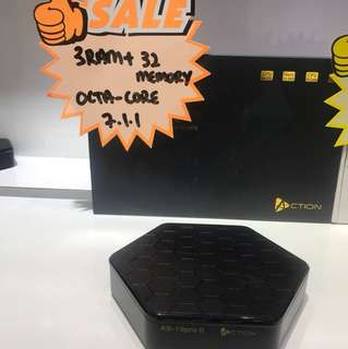 Action Tv Box 3GB RAM + 32GB OCTA CORE ANDRIOD 7.1