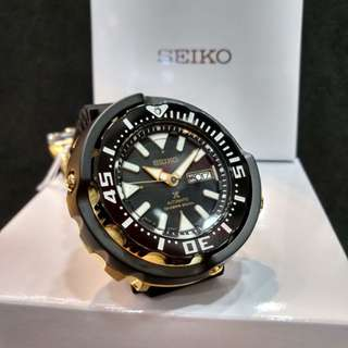 * FREE DELIVERY * Made In Japan Brand New 100% Authentic Seiko Prospex Black Gold Mini Tuna Automatic Mens Diver Watch SRPA82J SRPA82