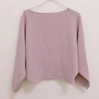 藕紫色上衣 版型真的美
