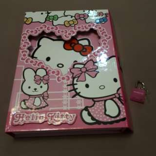 Hello Kitty diary with lock