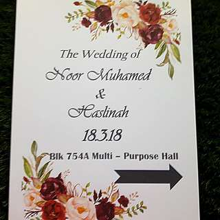 Flower design paper for table decoration