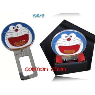 2PCS DORAEMON CAR SEAT SAFETY BELT SEATBELT BUCKLE ALARM STOPPER