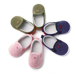 Baby Girl Boy Slip On Non-slip Canvas Shoes