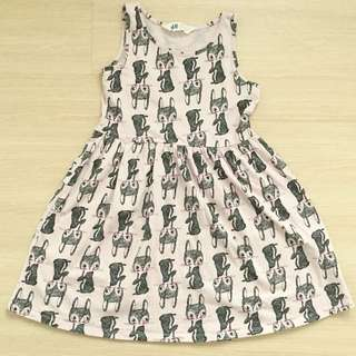 H&M Pink Fox Summer Dress