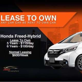 Deposit and Drive away BN HONDA FREED LEASE TO OWN