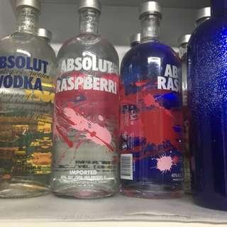 Absolut Vodka 1 litre bottles