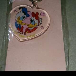 Donald duck heart keychain