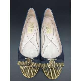 Salvatore Ferragamo denim Flat - Salvatore Ferragamo 平底鞋
