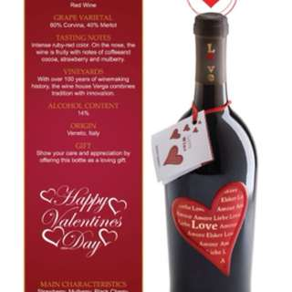 Love wine for valentine