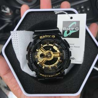 Authentic BA-110 Baby-G Glossy Black Gold Series! Casio Sale Offer Brand New! Limited Stock First Come First Served 😎👍