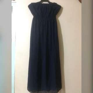 Tube long dress Navy blue